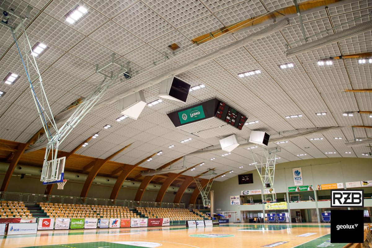We renovated the lighting of the Tri lilije sports hall!